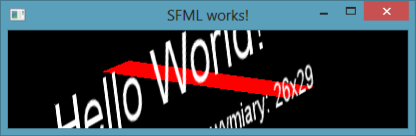 Rysunek 4. Efekt działania kodu z listingu 9. wykorzystujący sf::View